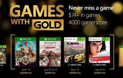 Revelados os jogos da Xbox Live Gold de Setembro