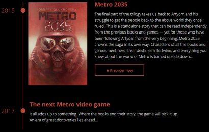 Metro 2035 será lançado em 2017