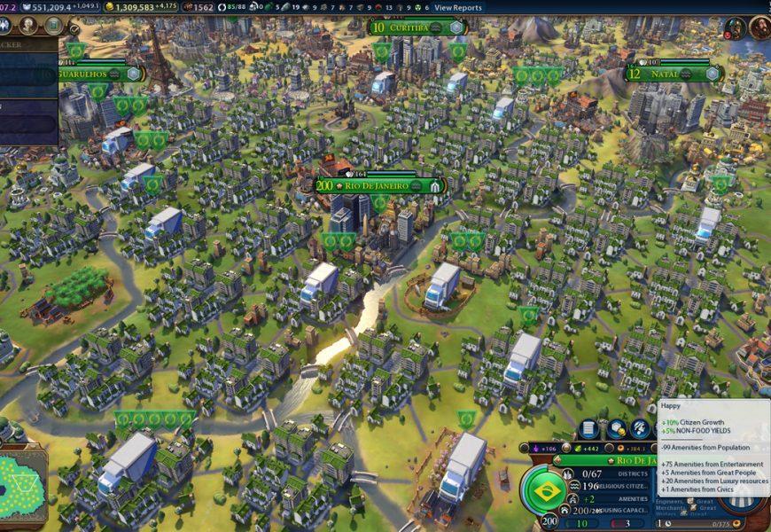 Jogador cria cidade com população equivalente a 2 bilhões em Civilization VI