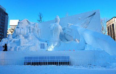 Japoneses reproduzem Final Fantasy 7 em uma escultura gigante de gelo