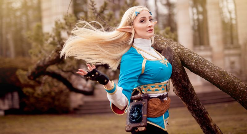 Foto de Cosplay de Zelda, Breath of the Wild, é magnifico