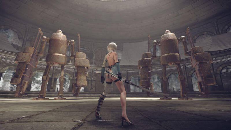 Foto de Novo DLC de NieR: Automata permite lutar contra presidente da Square Enix