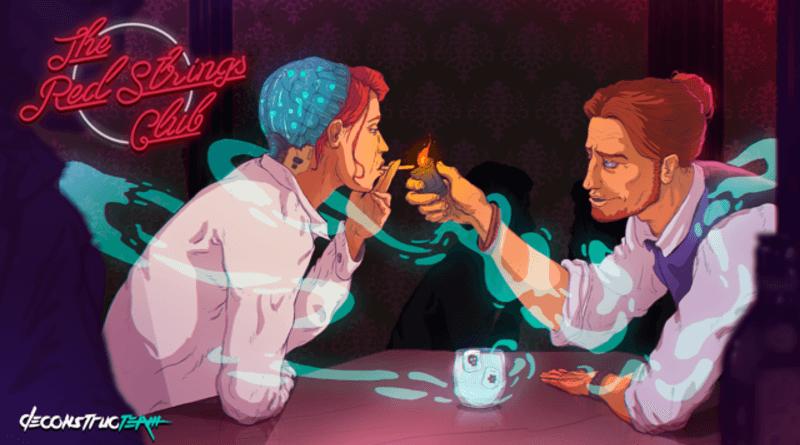 Foto de The Red Strings Club é uma narrativa em Cyberpunk com a mão da Devolver