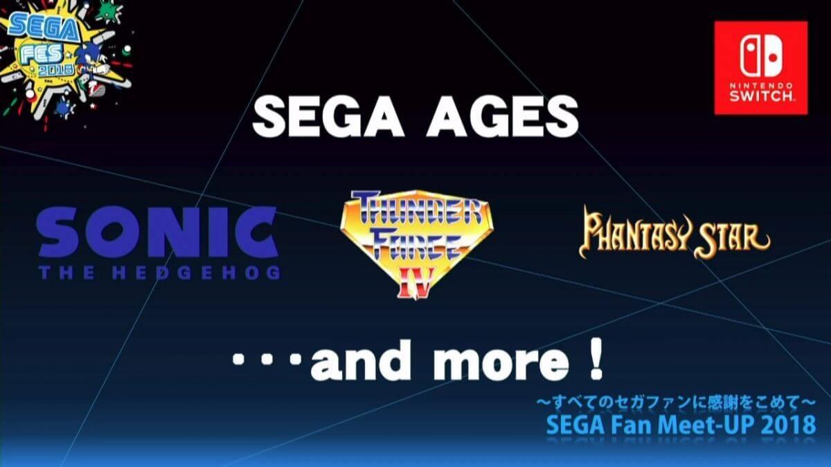 Foto de SEGA ages foi anunciado para o Nintendo Switch