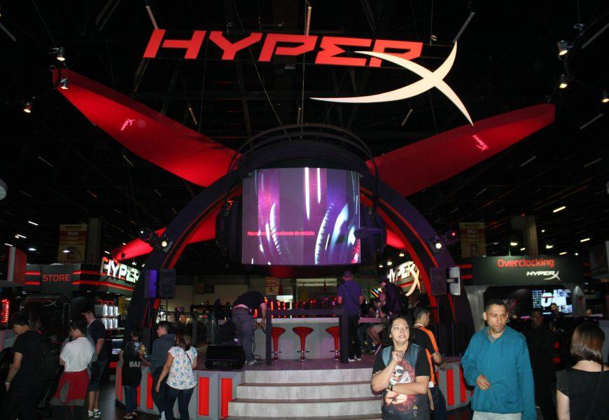 HyperX participa da BGS com 48 estações de jogos, muitas atrações de eSports, youtubers famosos e quatro lançamentos