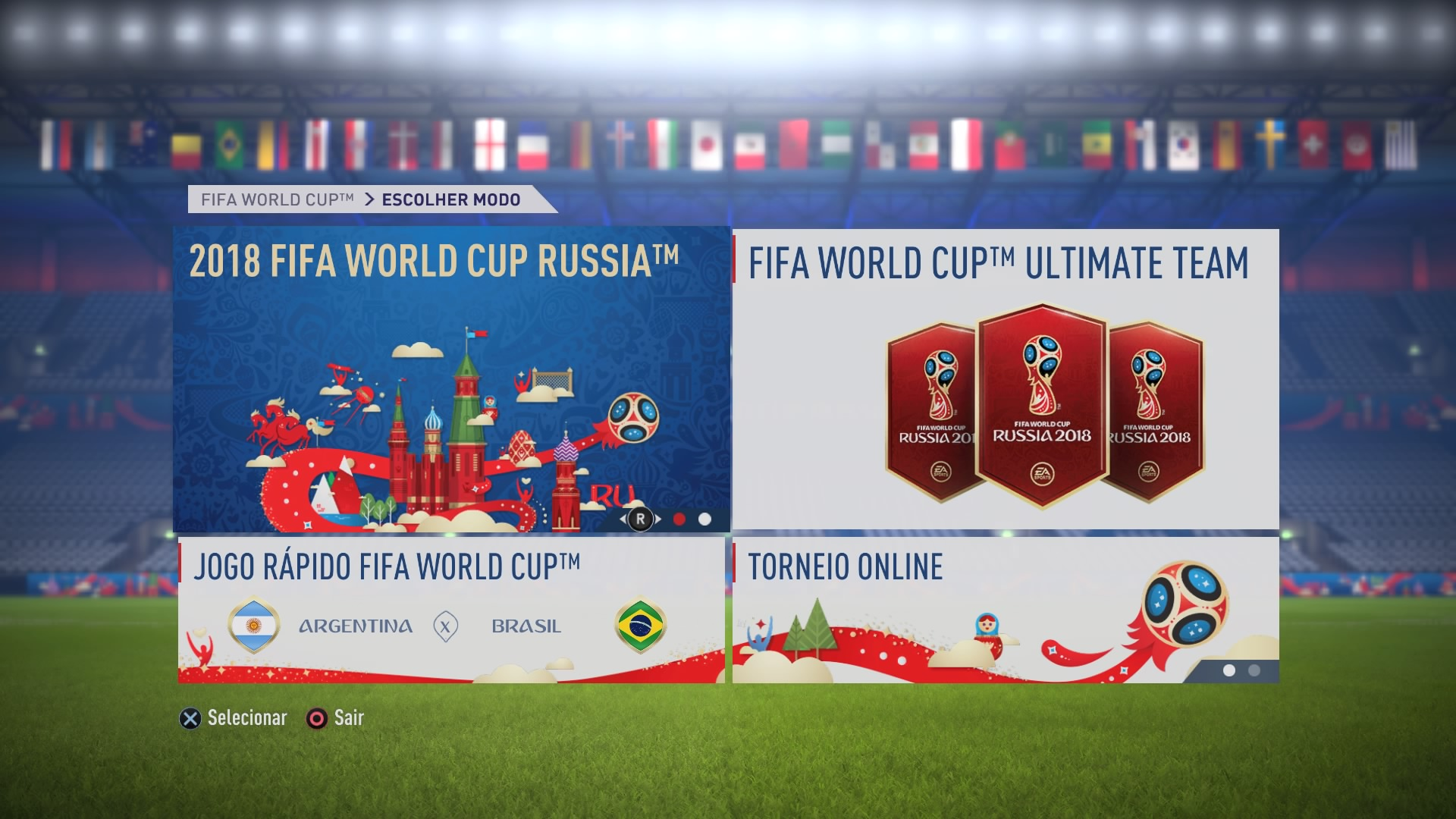 FIFA 18 (Nos menus)