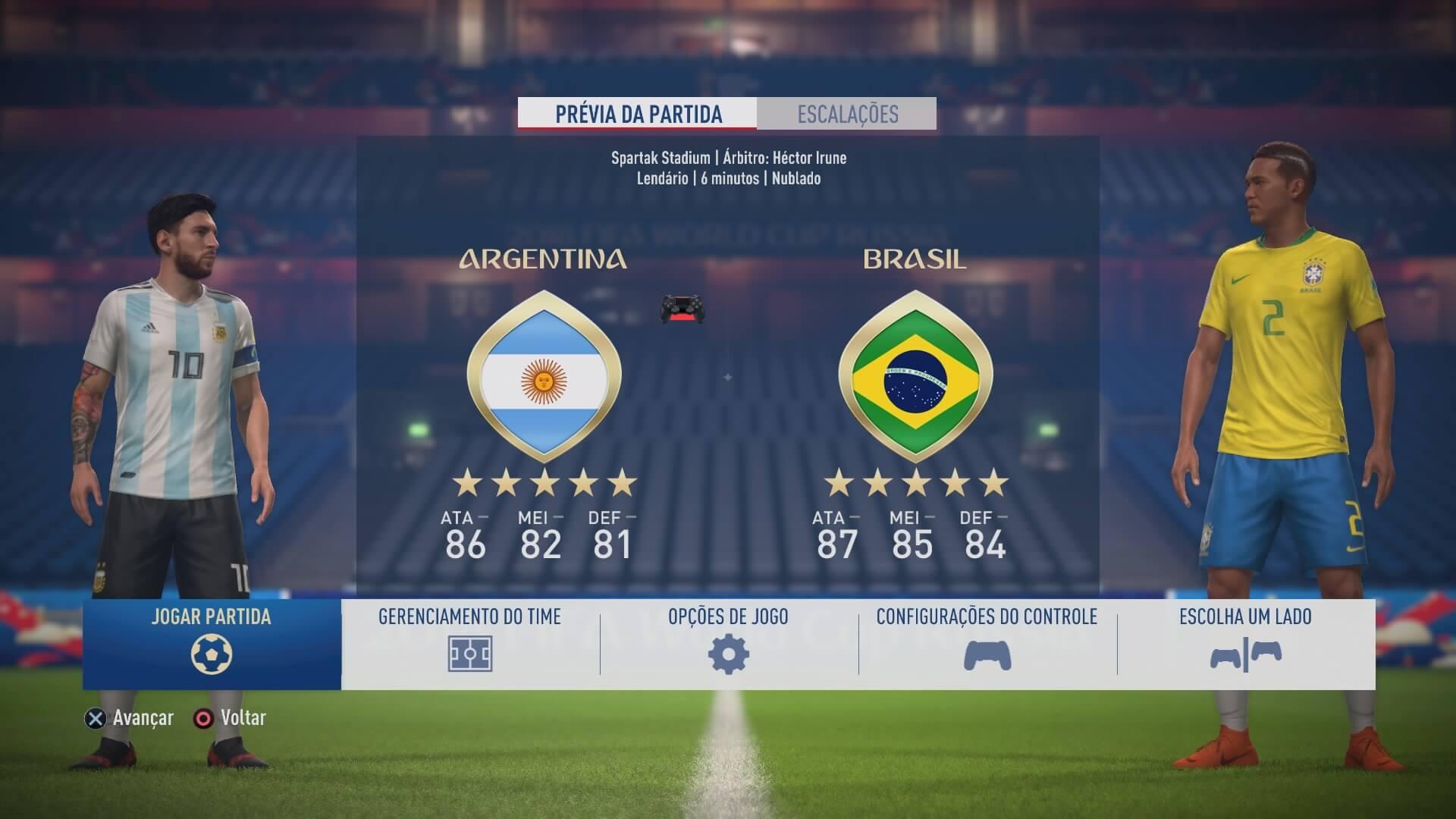 FIFA 18 | Jogo Rápido FIFA World Cup™ (Nos menus)