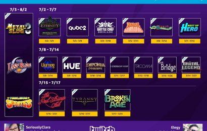 Assinantes da Twitch Prime receberão mais de 20 novos jogos em julho