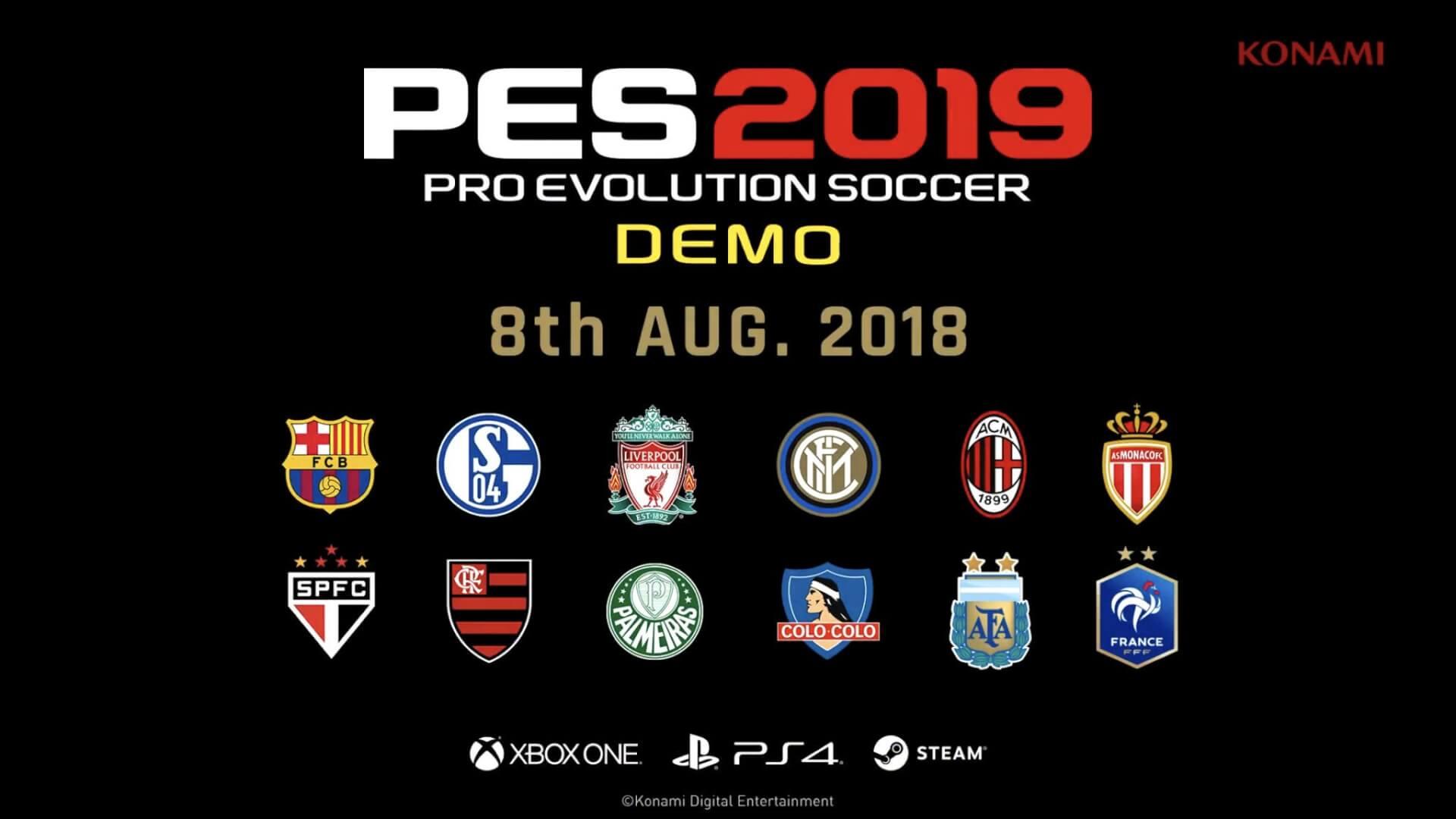 Foto de Demo de PES 2019 é anunciada para Agosto e terá modo online