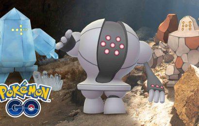 Raides de Regirock disponível em PokemonGo!