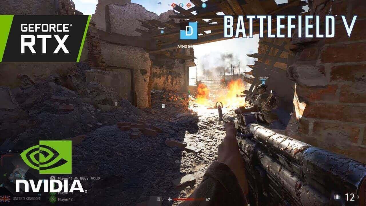 Foto de Battlefield V com 64 jogadores simultâneos e gráficos RTX na BGS 2018