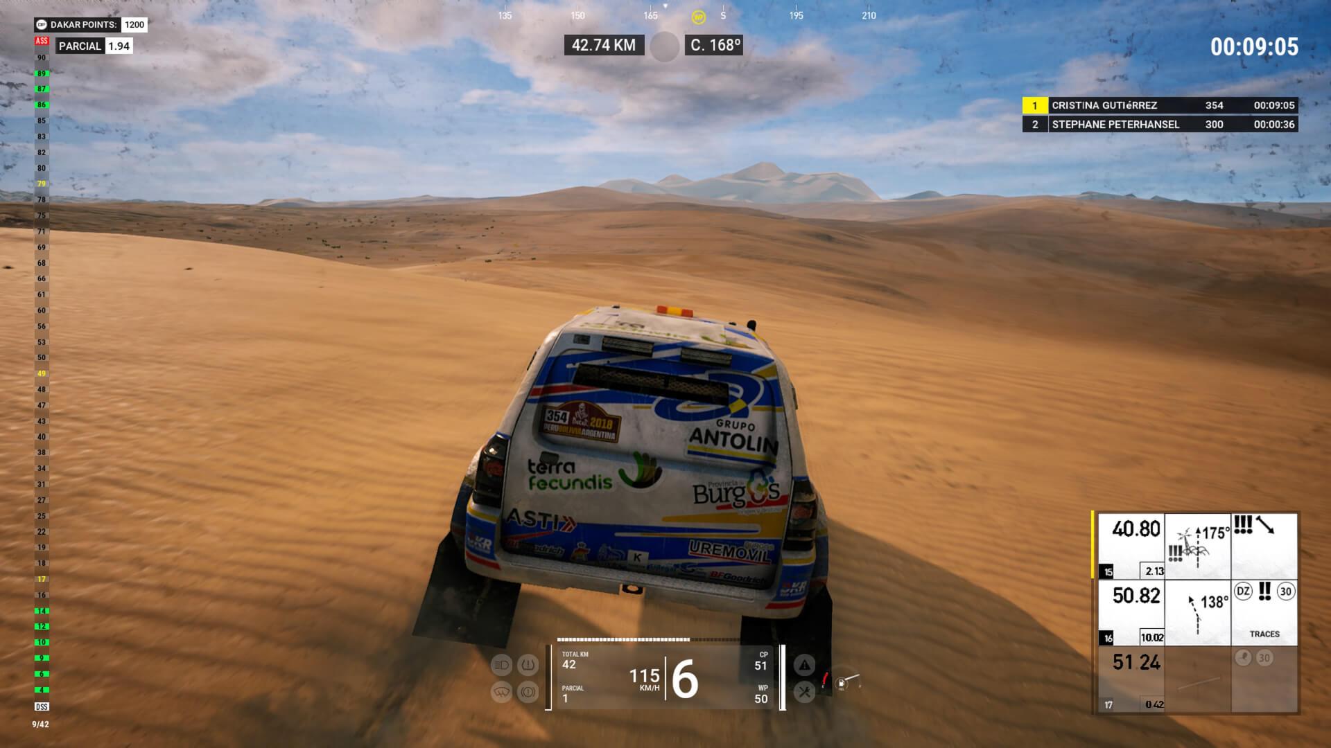 Foto de Análise: Dakar 18 mostra a solidão de um piloto atolado no meio do deserto