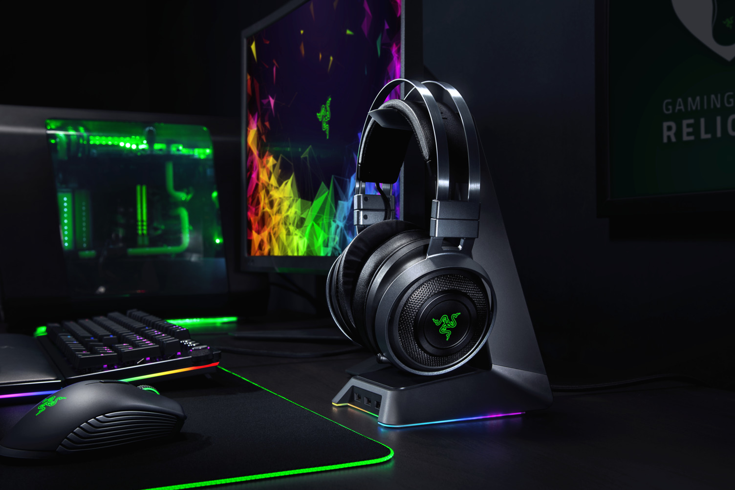 Foto de Razer anuncia Nari Ultimate, headset wireless com tecnologia háptica hipersensitiva