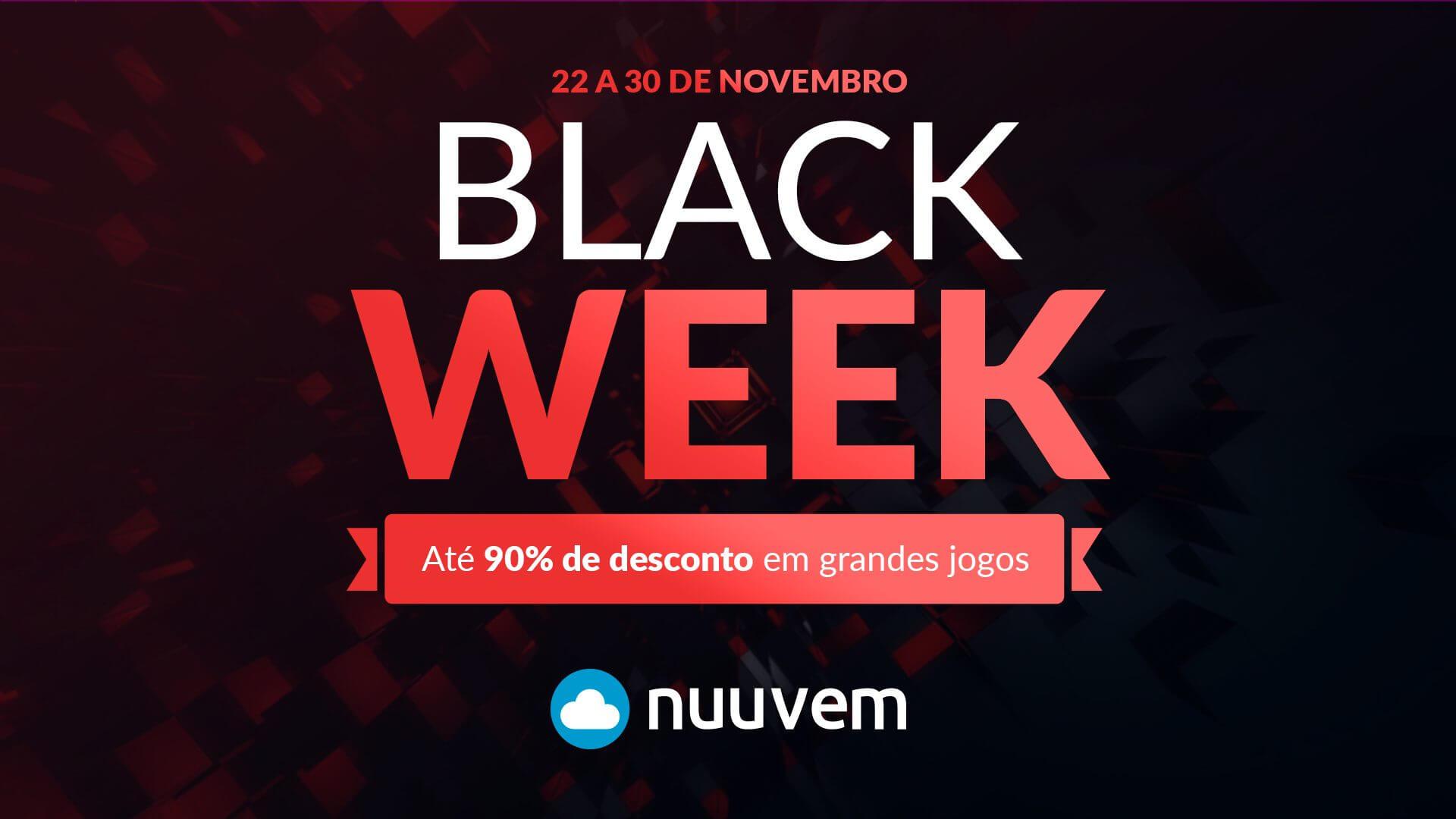 Black Week da Nuuvem conta com mais de 1.500 jogos com até 90% de desconto e sorteio de prêmios