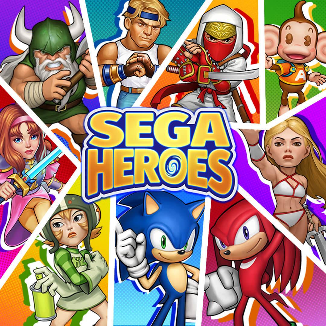 Convoque seu time dos sonhos com SEGA Heroes!