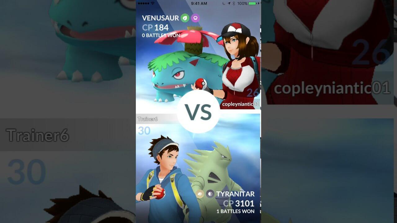 POKÉMON GO introduz as batalhas de treinador