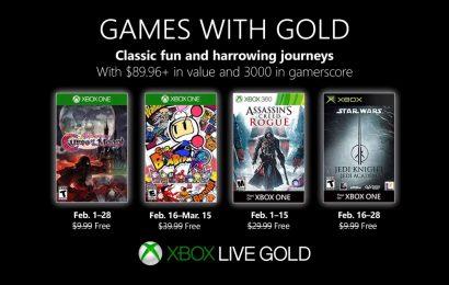 Confiram os jogos gratuitos do Games With Gold de Fevereiro