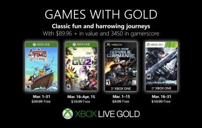 Jogos da Games With Gold de Março foram revelados