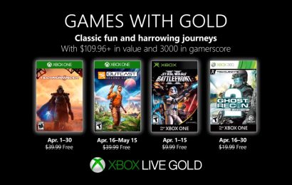 Confiram os jogos gratuitos da Games With Gold de Abril