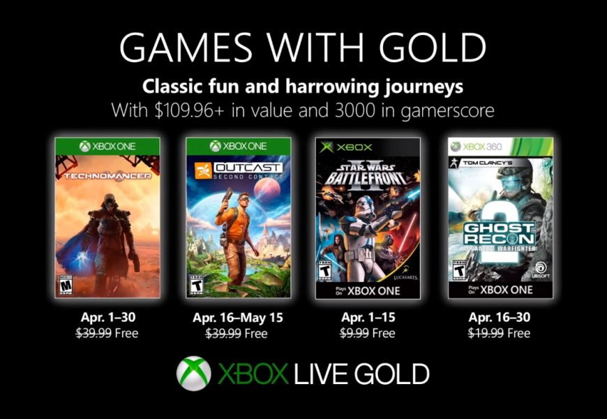 Confiram os jogos gratuitos da Games With Gold de Abril