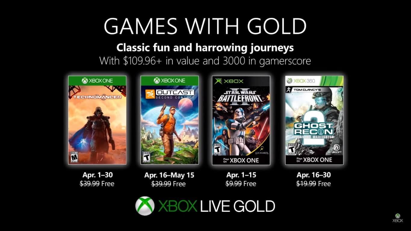 Foto de Confiram os jogos gratuitos da Games With Gold de Abril