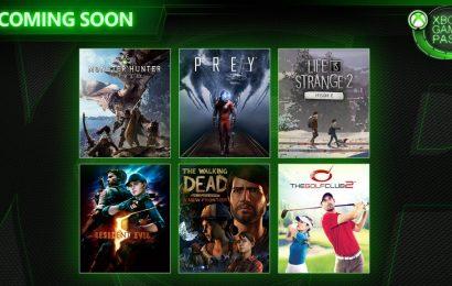Xbox Game Pass de Abril receberá Monster Hunter World, Prey e mais!