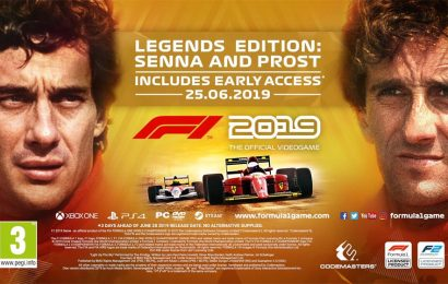 Edição lendária de F1 2019 destaca rivalidade entre Senna e Prost. Formula 2 confirmado e mais