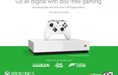 Xbox One S ganhará edição 100% digital