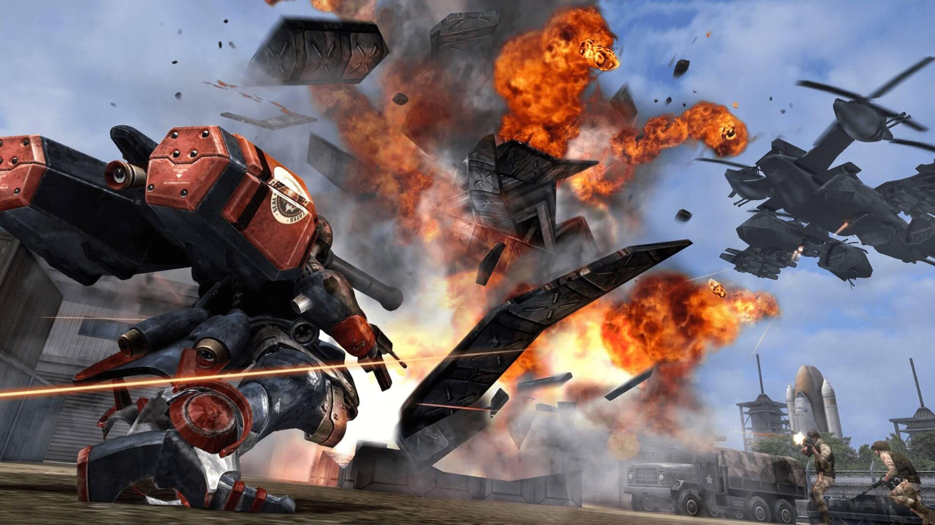 Foto de Metal Wolf Chaos XD da Devolver Digital e From Software, será lançado em Agosto