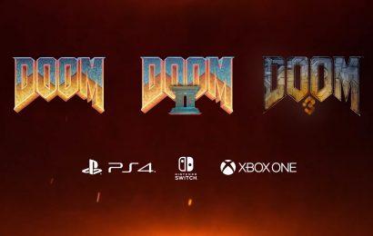 Doom, Doom II e Doom 3 foram anunciados e lançados para PS4, Xbox One e Switch