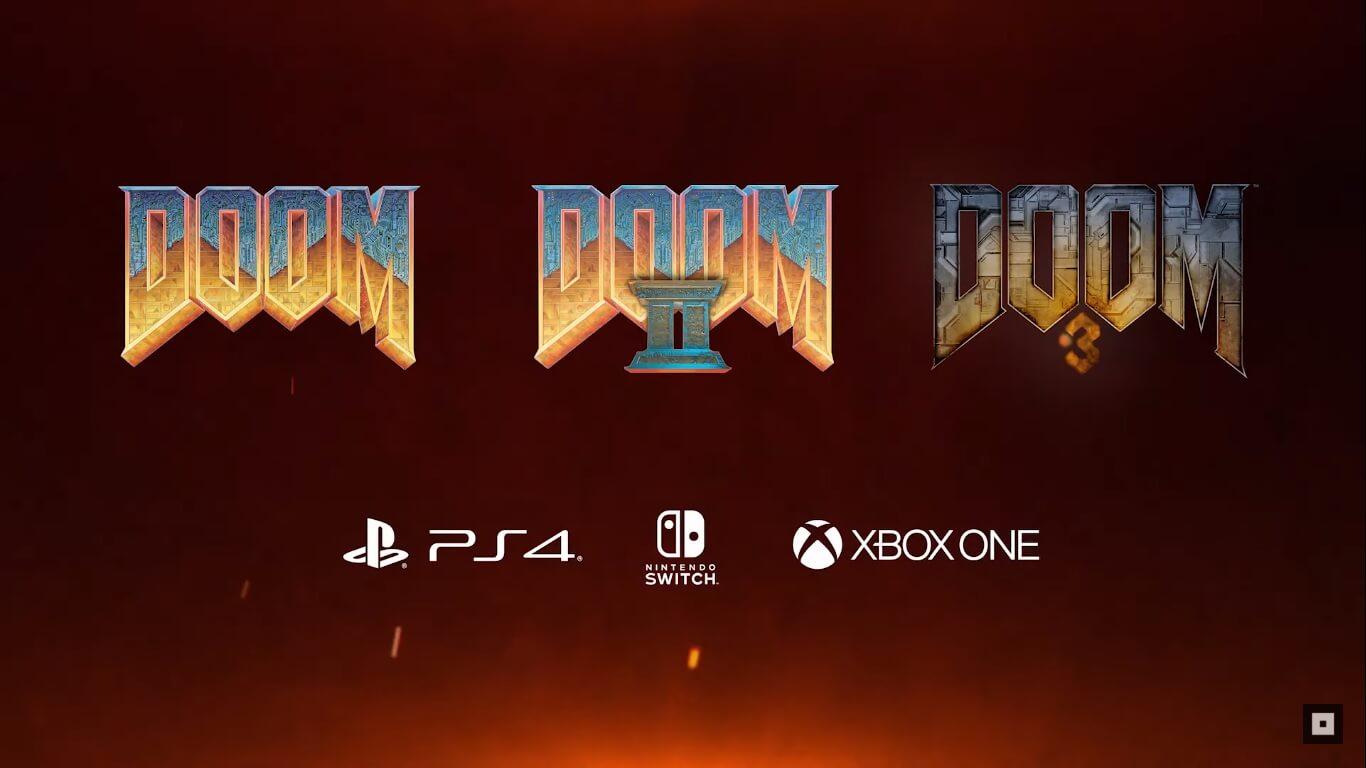 Foto de Doom, Doom II e Doom 3 foram anunciados e lançados para PS4, Xbox One e Switch