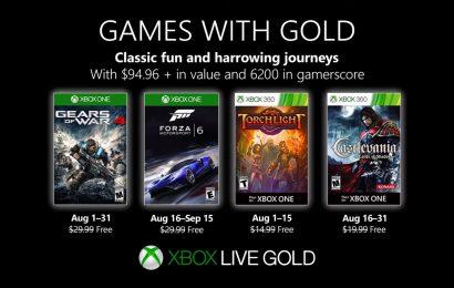 Jogos gratuitos da Xbox Live Gold de Agosto foram anunciados e impressionam