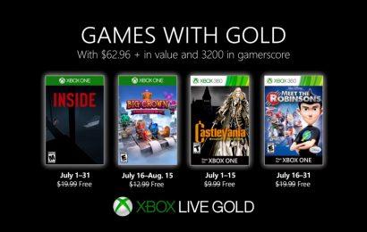 Confiram os jogos da Games with gold de Julho para seu Xbox