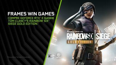 Foto de Promoção GeForce RTX e Rainbow Six Siege Gold Edition