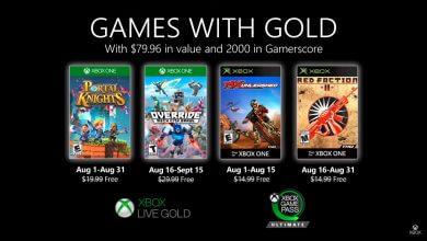 Foto de Jogos da Games With Gold de Agosto foram revelados