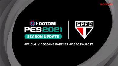 Foto de KONAMI fechou parceira global com São Paulo Futebol Clube em PES 2021