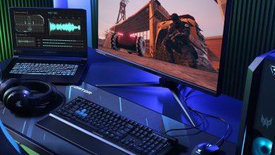 Foto de 3 novos monitores Acer Nitro e Predator com altas taxas de atualização