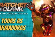 Foto de Todas as armaduras e bônus de Ratchet and Clank: Em uma Outra Dimensão