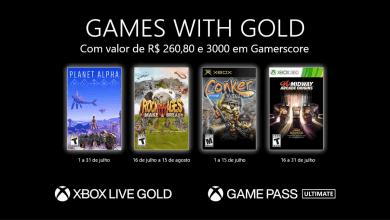 Foto de Games with Gold de julho foram anunciados!