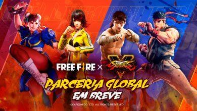 Foto de Free Fire dá as boas-vindas a Ryu e Chun-Li, de Street Fighter