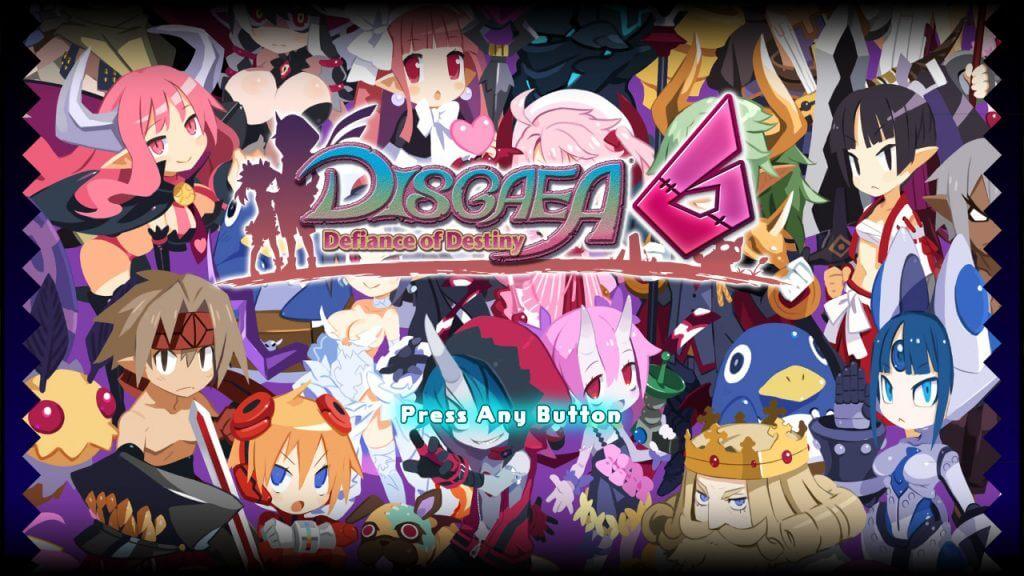 Disgaea 6 menu
