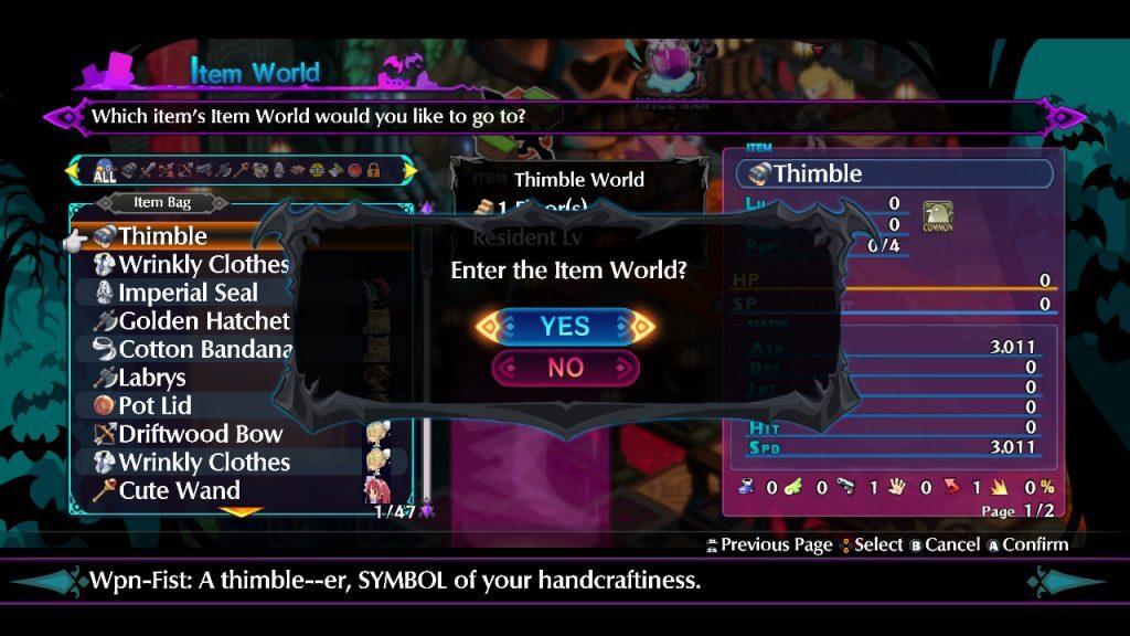 Item World 3