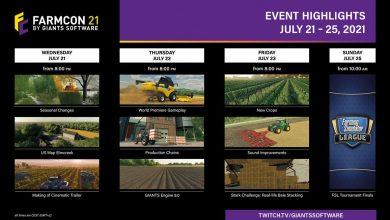 Foto de FarmCon 2021 mostrará gameplay de Farming Simulator 22