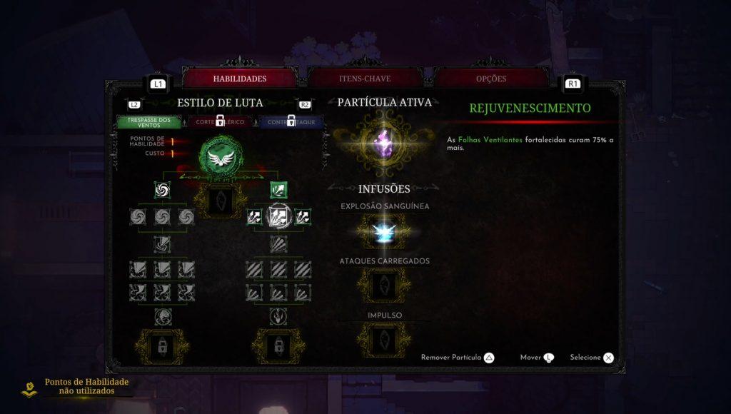 Eldest Souls arvores de habilidades