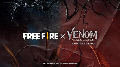 "Foto de Evento ""Contra-ataque Carnificina"", da parceria Free Fire x Venom: Tempo de Carnificina"