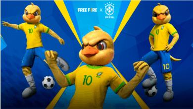 Foto de Novas skins da parceria com a Seleção Brasileira de Futebol chegam ao Free Fire